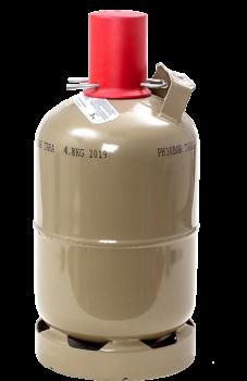 Propangasflasche Eigentumsflasche grau 5kg